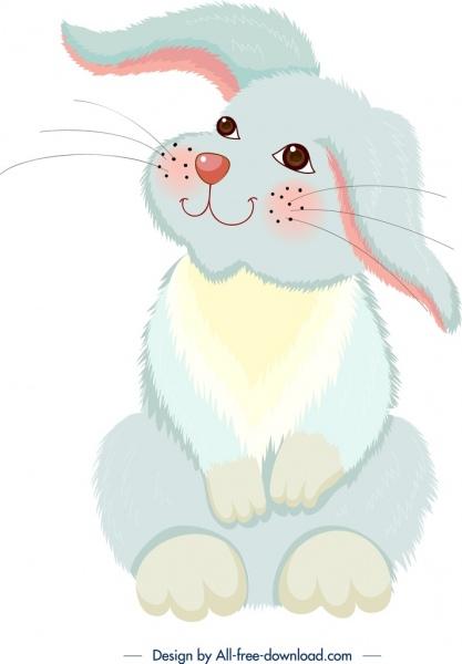 rabbit painting colorful cartoon sketch