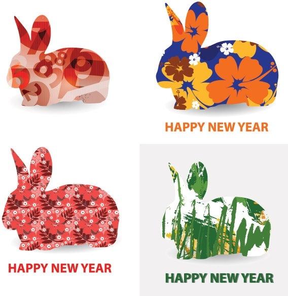 rabbit pattern vector