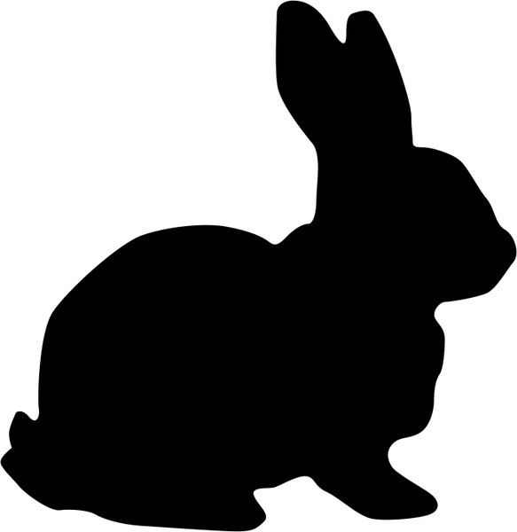 Rabbit Silhouette Free Vector In Open Office Drawing Svg