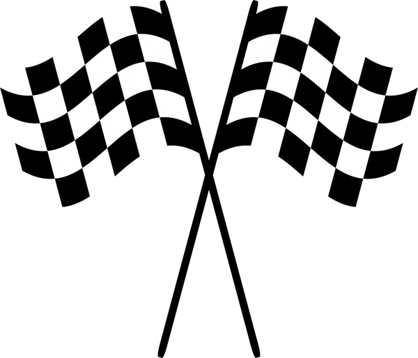 racing checkered flags vector illustration free vector in open