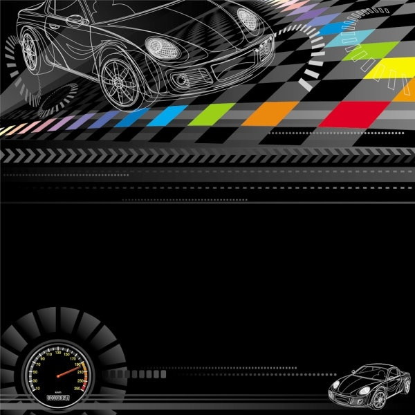 racing theme background pattern 03 vector