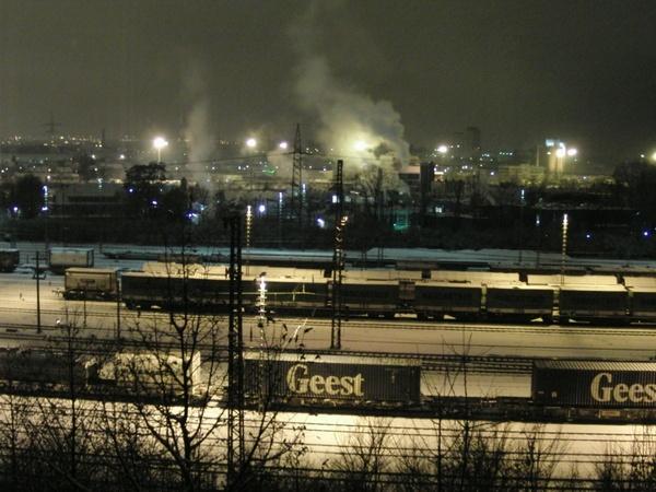 railway winter snow