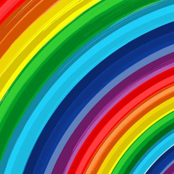 Rainbow Abstract Vector Background Free Vector In