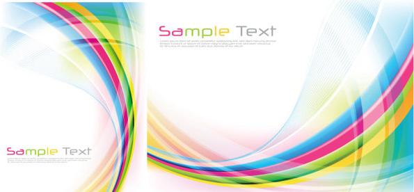 rainbow lines background vector