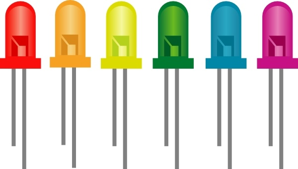 Perfect Rainbow Of Light Emitting Diodes Clip Art Good Ideas