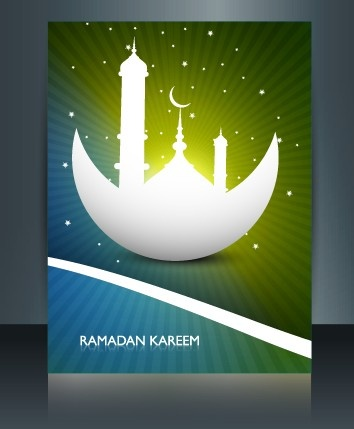 ramadan kareem flyer cover vector