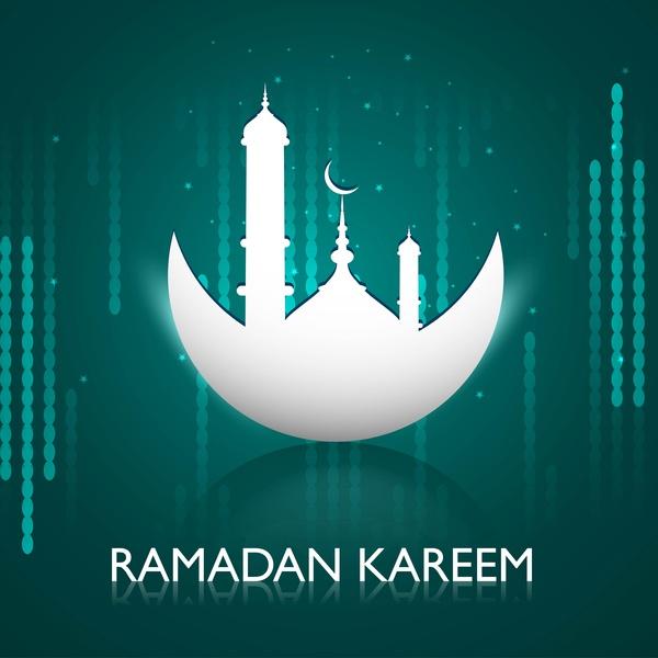 Ramadan kareem greeting card colorful design free vector in ramadan kareem greeting card colorful design m4hsunfo