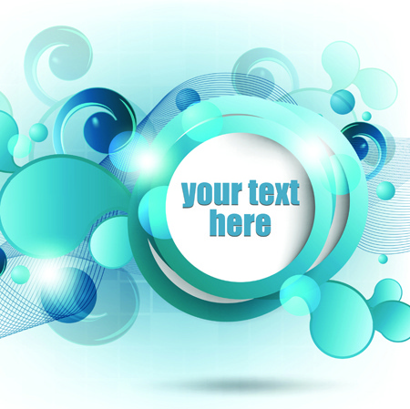 range circle for text template vector background