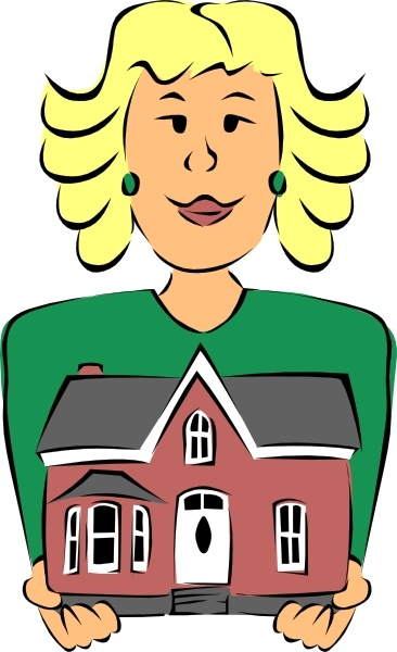 real estate agent holding house clip art free vector in open office rh all free download com