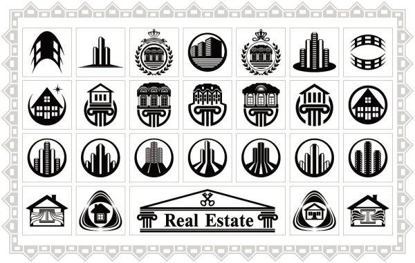 real estate icon 02 vector