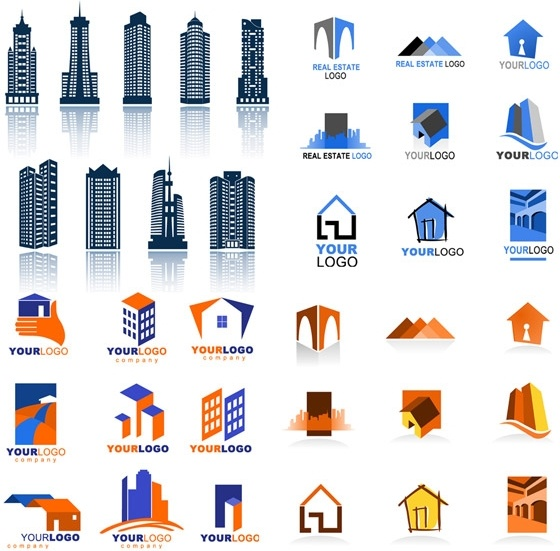 real estate logo template vector free vector in encapsulated