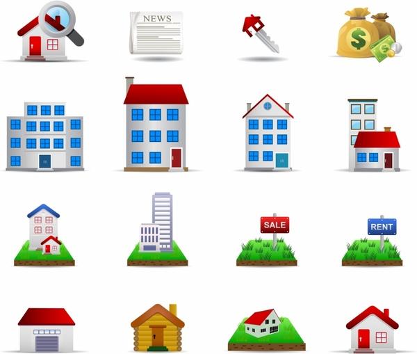 Real Estate Set2 - Color Series