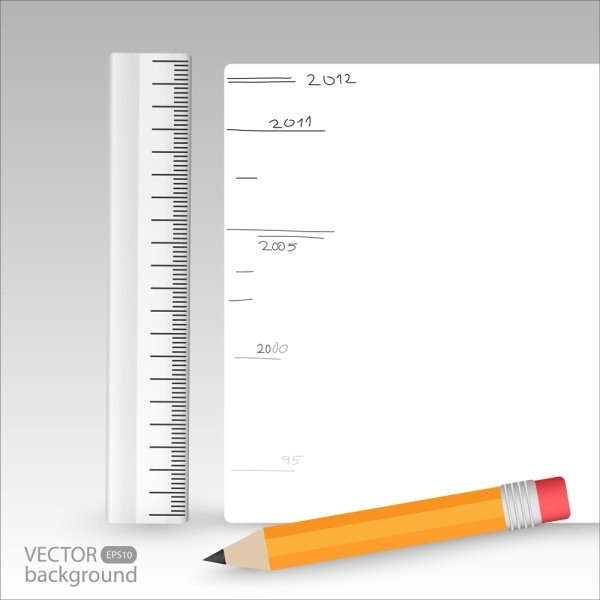 realistic learning stationery 041 vector