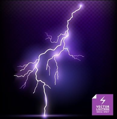 Realistic Lightning Effect Vector Background Art Free Vector In