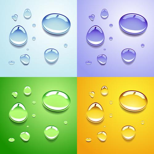 realistic water drop vector background