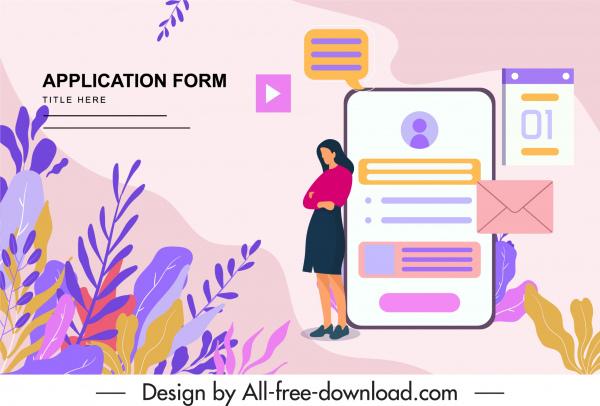 recruitment banner colorful classic digital webpage decor
