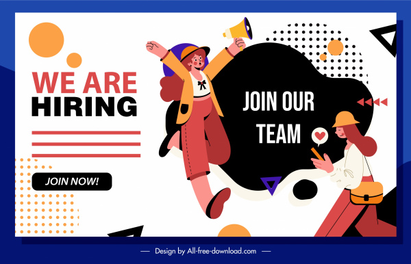 recruitment poster people activities announcement sketch cartoon design