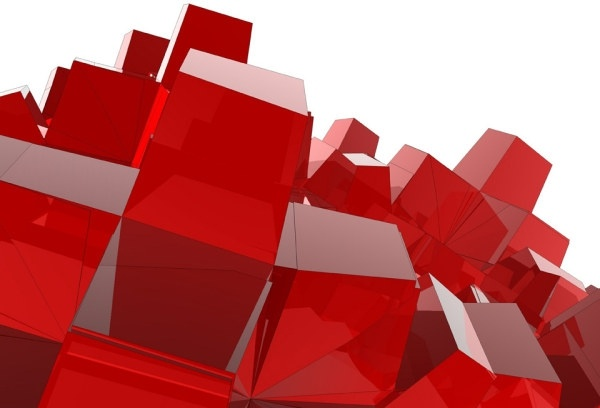 red 3d cube definition picture