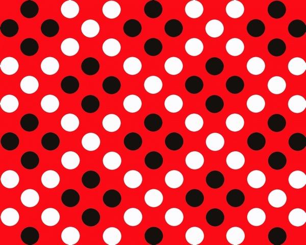 red amp black polka dot pattern
