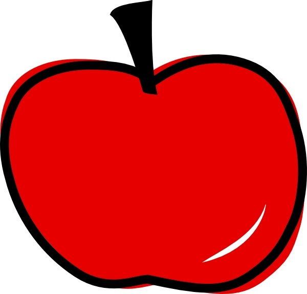 red apple clip art free vector in open office drawing svg svg