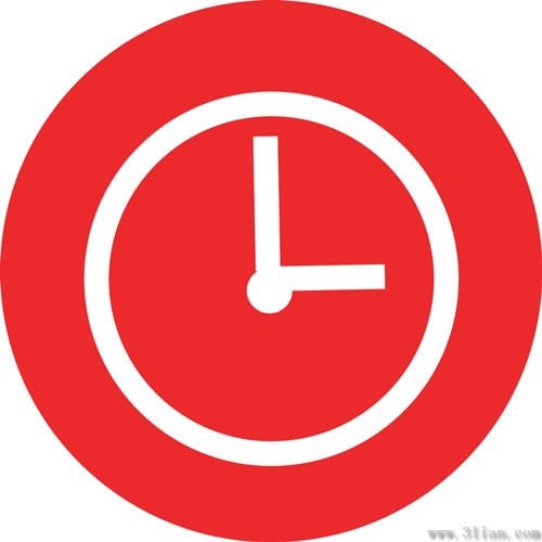 red background clock icon vector free vector in adobe Flower Drawings Clip Art Flower Drawings Clip Art