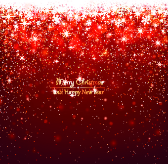 red christmas elements background vector set