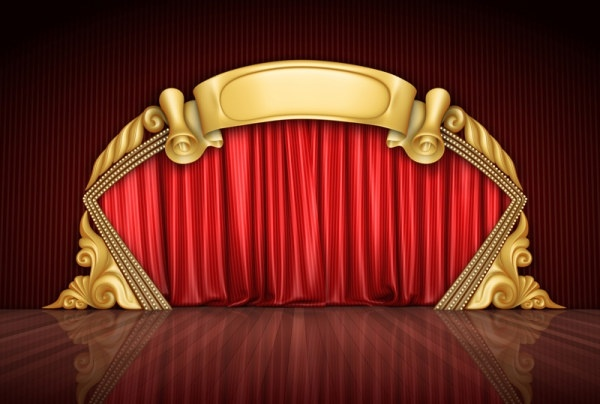 red curtain and the stage of highdefinition picture