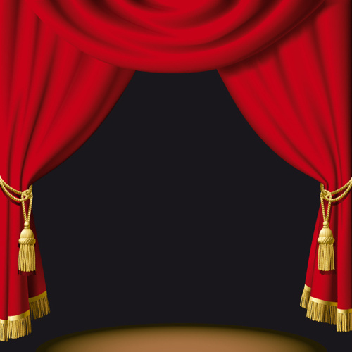 Red Curtain For Backstage Design Vector Free Vector In