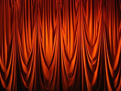 red curtain picture 1