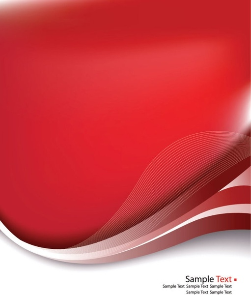red delicate pattern background 02 vector