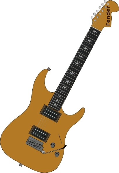 red electric guitar clip art free vector in open office drawing