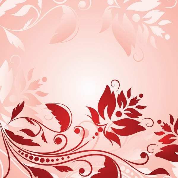 decorative background flowers icon classical curves sketch