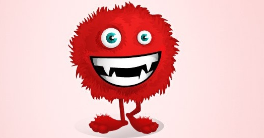 Red fluffy monster vector character Free vector in Adobe