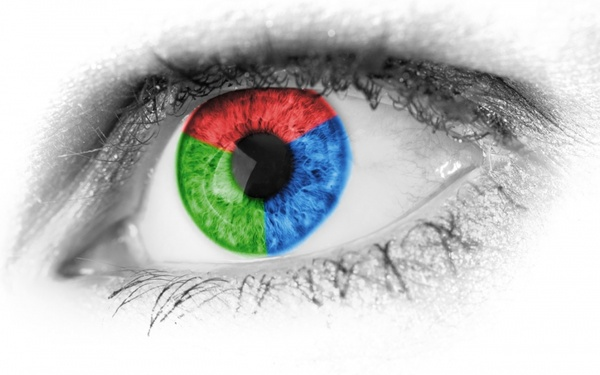 red green and blue eye