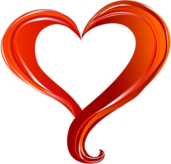 Red Heart Free Vector In Adobe Illustrator Ai Encapsulated