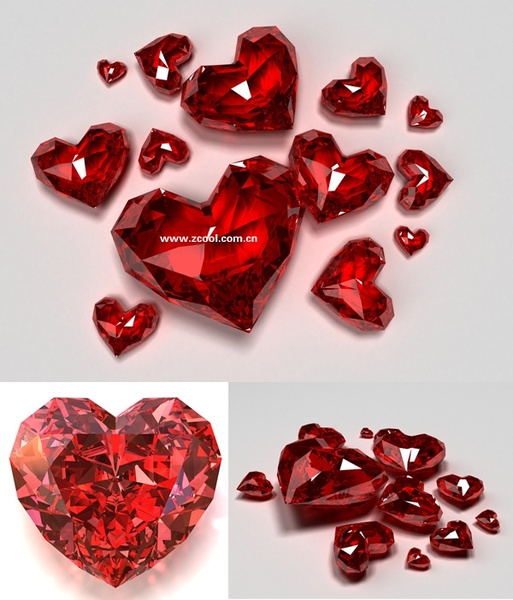 red heartshaped bright diamond hd picture