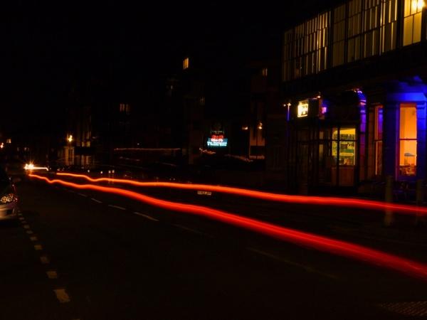 red lights night