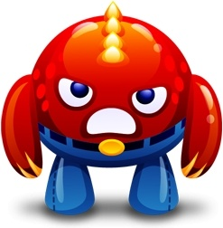 Red monster angry