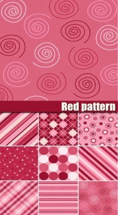 red pattern cute vector