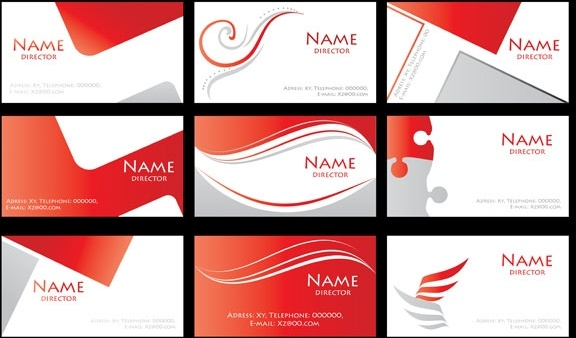 Red Simple Card Background Vector Free 20671KB