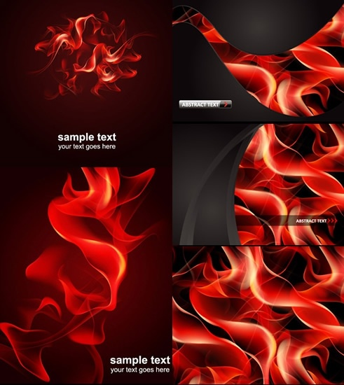 fire background templates modern red dynamic design