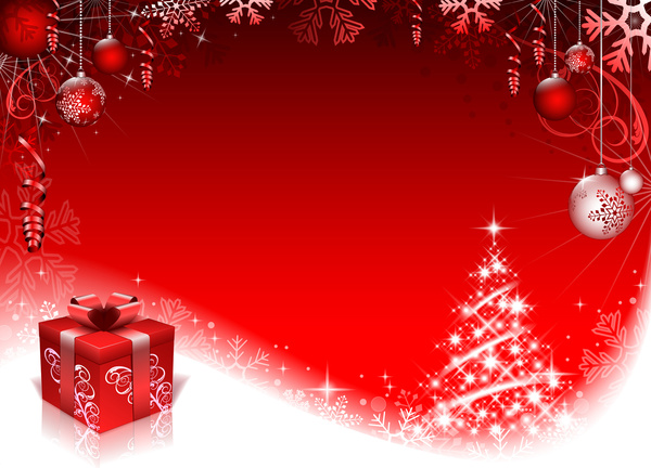 Free Illustration Background Christmas Red Gold: Red Gold Christmas Background Free Vector Download (58,116