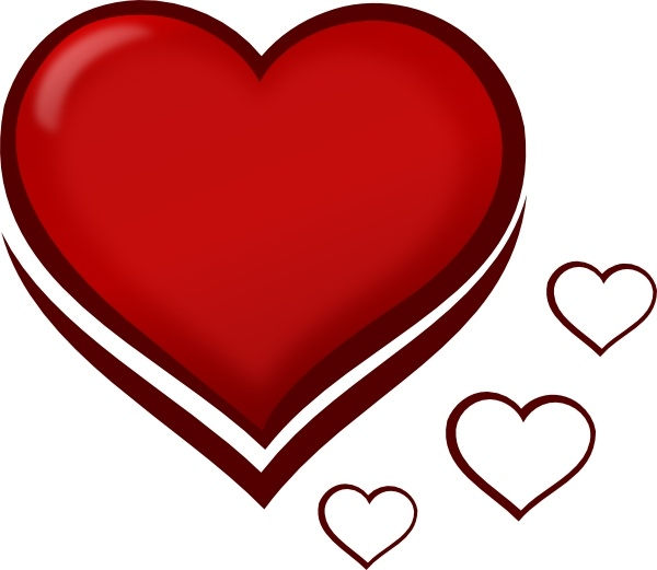 red stylised heart with smaller hearts clip art free vector in open rh all free download com free vector heart art free vector heart beat