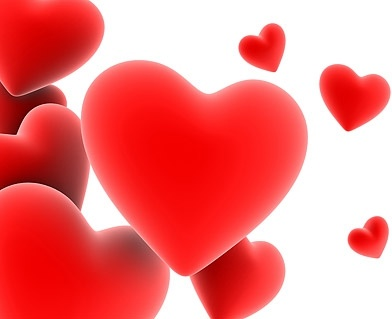 red threedimensional heartshaped picture