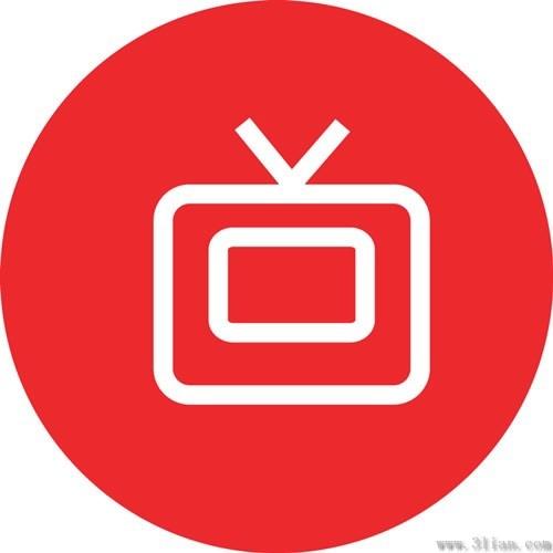 Red tv icon vector Free vector in Adobe Illustrator ai (  ai