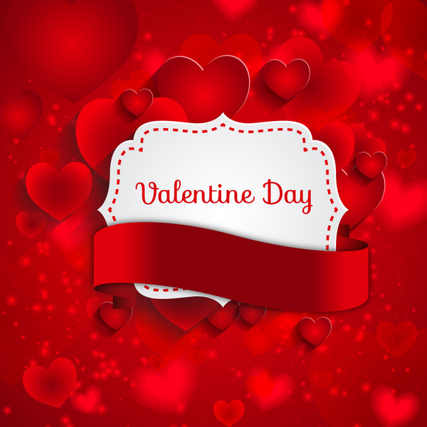 red valentine day background with heart
