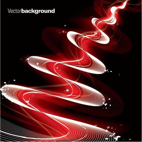decorative background sparkling dynamic curved lines decor