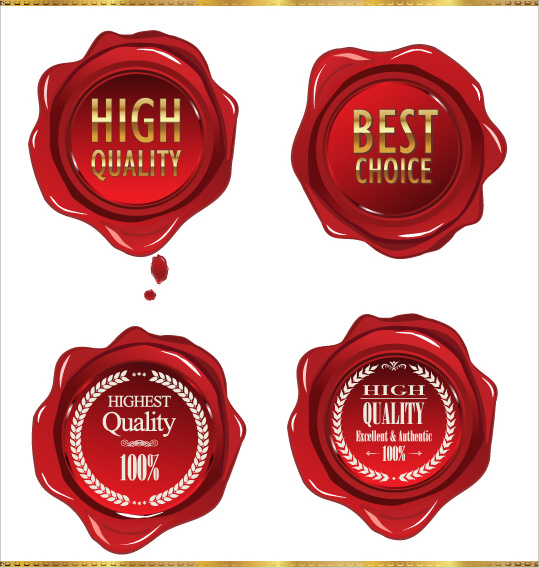 red wax seal vector graphics