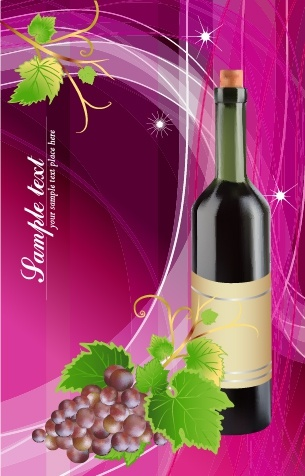 wine advertising banner sparkling colorful decor