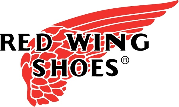 red wing shoes free vector in encapsulated postscript eps ( .eps